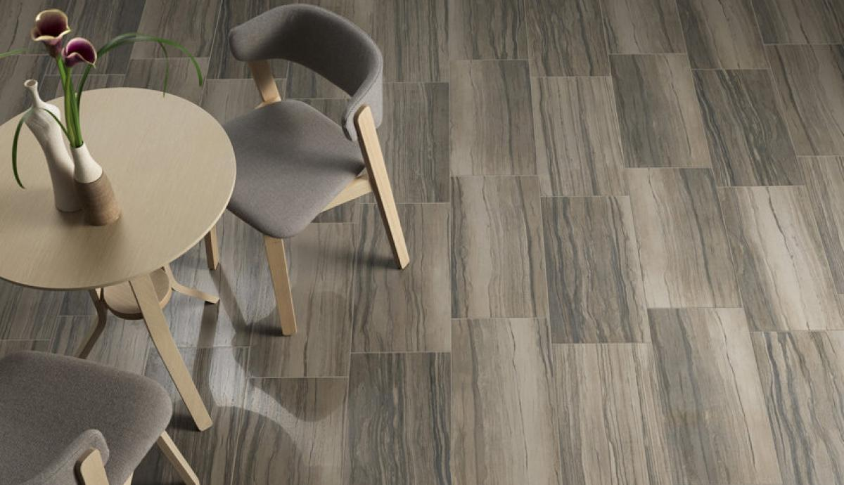 Ascot ceramiche - Pavimento in gres porcellanato effetto travertino